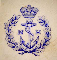 close-up of navy hospital mark